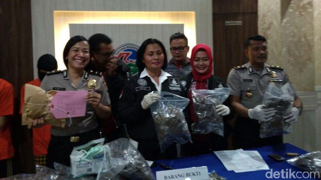 Sindikat Tembakau Gorilla Ditangkap Polisi, 13 Kg Paket Disita