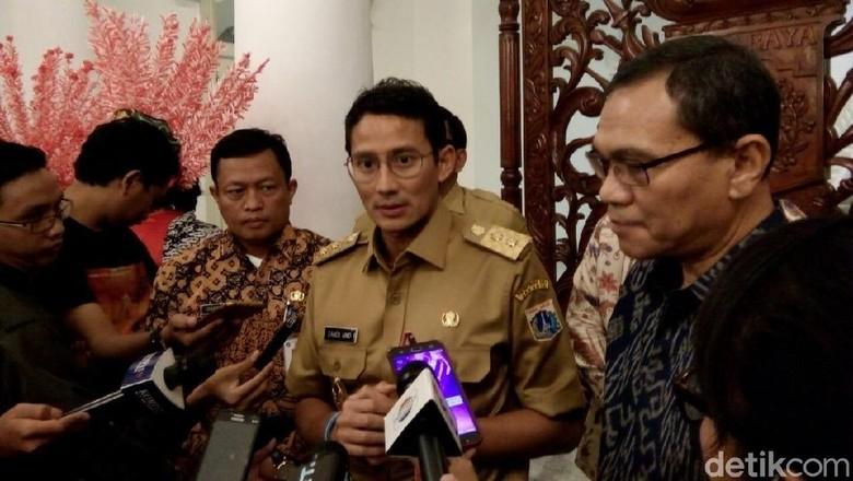 Bertemu di Balai Sandi dan - Jakarta Wakil Gubernur DKI Jakarta Sandiaga Uno bertemu dengan Chief Executive Officer PT Integrated Service Solutions yang juga