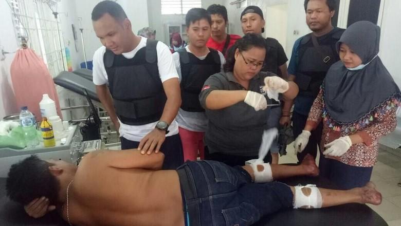 Miliki Senjata Bandar Narkoba di - Pekanbaru Polsek Bagan Sinembah Kab Rokan Hilir menembak bandar narkoba yang juga memiliki senjata api Tindakan tegas dilakukan