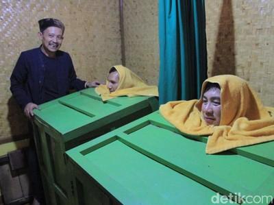 Yang Segar di Bandung, Menjajal Sauna Tradisional Khas Sunda