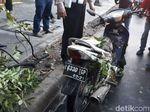 Patah Kaki, Pemotor Korban Pohon Tumbang Dilarikan ke RSPAD