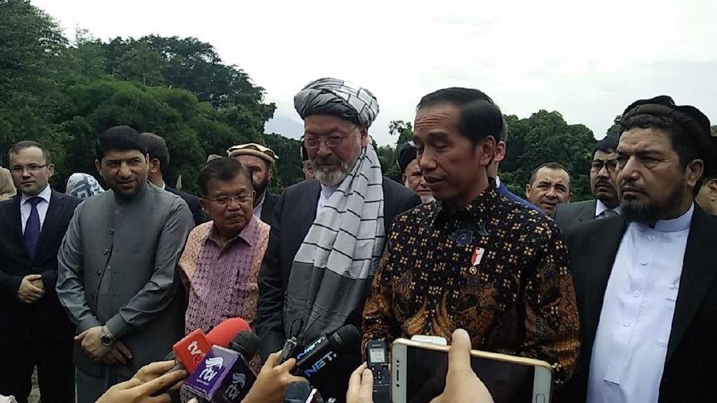 Jokowi Cerita Keragaman RI ke Karim Khalili dan Delegasi Afghanistan
