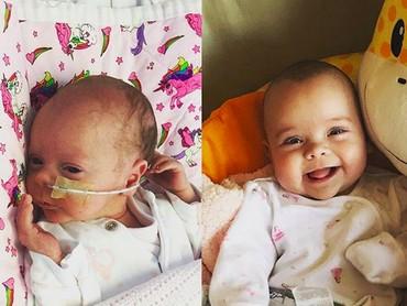 Tuh, lucu banget kan bayi bernama Aurelia ini. (Foto: Instagram/ @charlieaperrett)