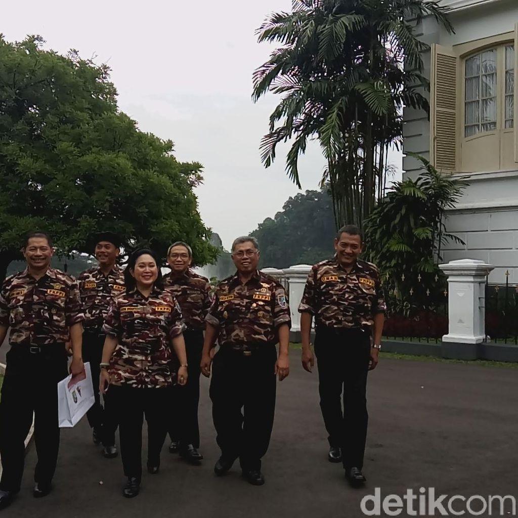 Titiek Soeharto dan FKPPI Temui Presiden Jokowi di Istana Bogor