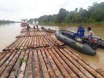Baharkam Polri Gagalkan Ilegal Logging di Sungai Landak Kalbar