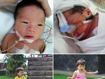 Si kembar Mikaela dan Miguel sekarang jadi anak yang lincah. (Foto: Instagram/ @babymikaelamiguel)