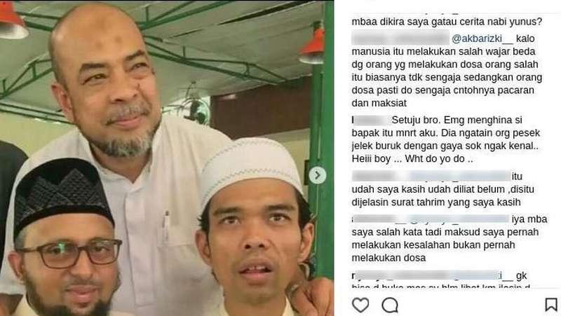 Instagram Ustad Somad Terus Diserang usai Komentari Rina Nose