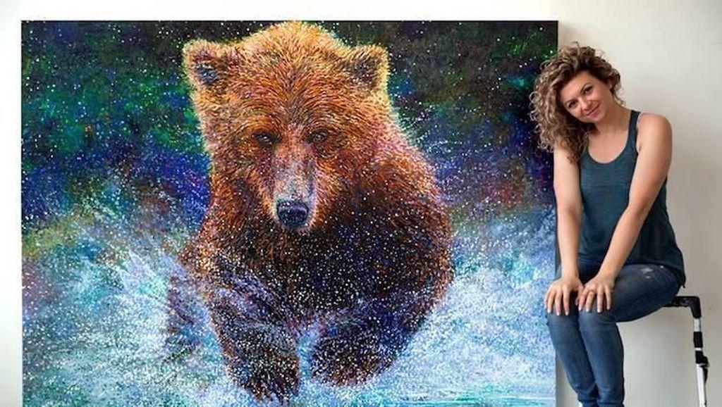 Seniman Brooklyn Buat Lukisan Jari Berukuran Raksasa