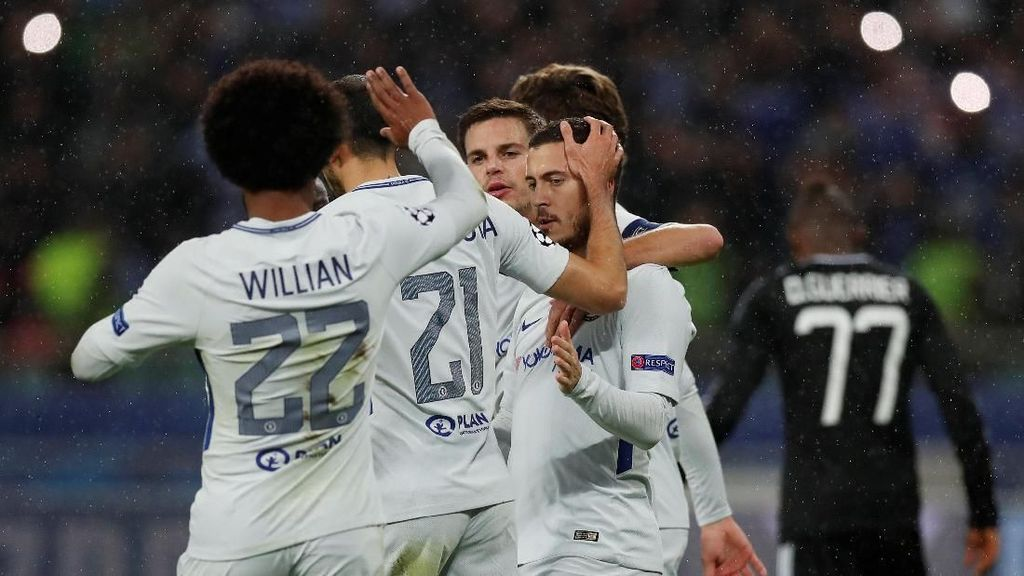 Chelsea Sementara Unggul 2-0 atas Qarabag