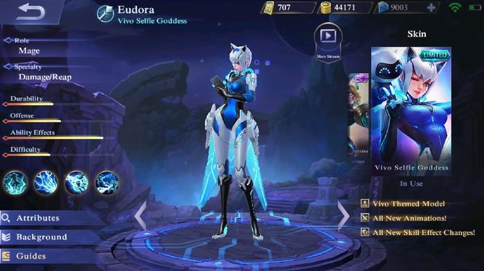 Skin Vivo Goddess. Foto: Mobile Legends