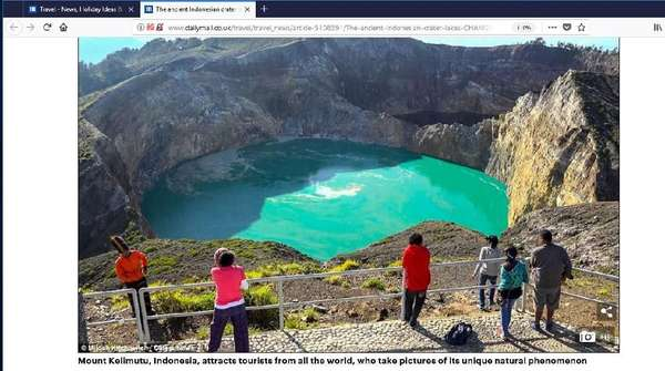 Sekarang Giliran Danau Kelimutu yang Diberitakan Media Inggris