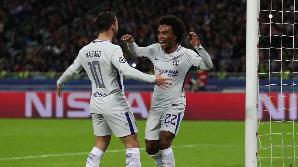 Hajar 10 Pemain Qarabag 4-0, Chelsea Lolos ke Babak 16 Besar