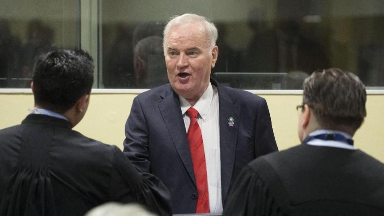 Bantai 7 Ribu Muslim Bosnia, Ratko Mladic Dihukum Seumur Hidup