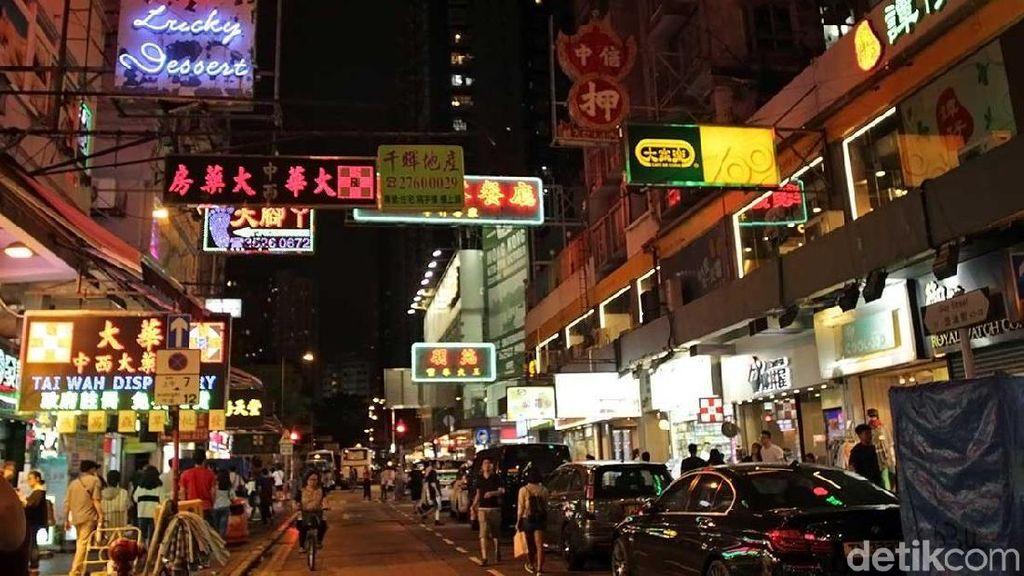 Foto: Pasar Malam Paling Instagenic di Hong Kong