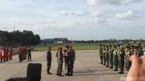 Kontingen TNI AD yang Juara Umum Lomba Tembak AARM Tiba di Jakarta
