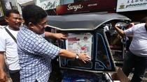 KPU Sulsel Pasang Stiker Ayo ke TPS di Ratusan Becak Motor