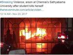 Mahasiswa Bunuh Diri Usai Kepergok Mencontek, Universitas India Dibakar
