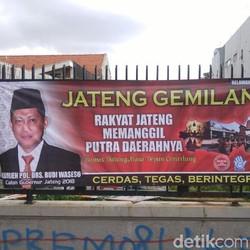 Ada Spanduk Buwas Cagub Jateng Terpasang di Semarang