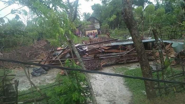 Angin Puting Beliung Rusak 13 Rumah di Aceh Utara