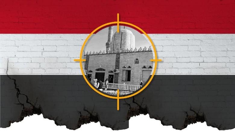 Polisi Mesir Tembak 11 Terduga Teroris Bom Masjid Sinai Utara