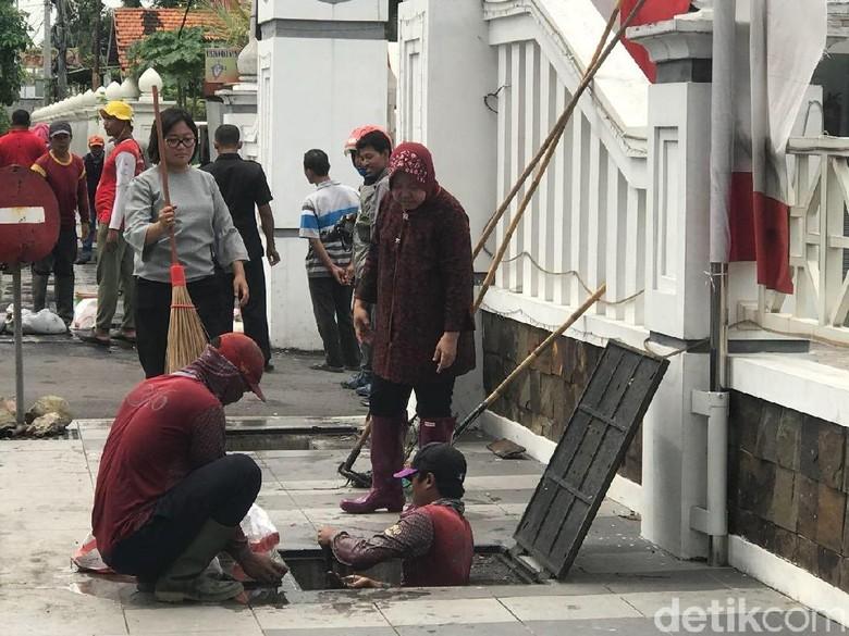 Minimalkan Banjir di Surabaya Barat, Ini Keinginan Risma
