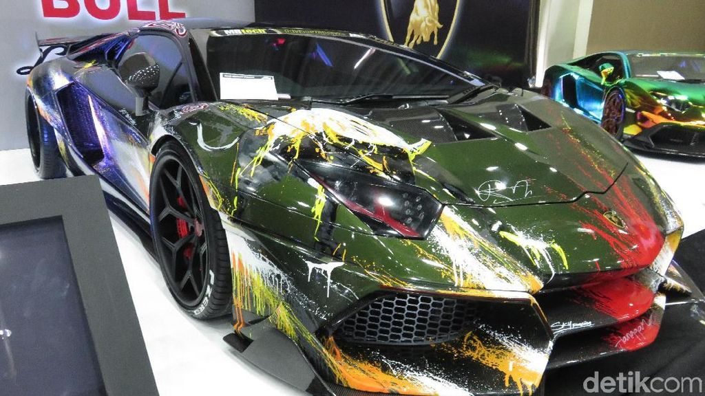 Lamborghini Raffi Ahmad Dicoret-coret
