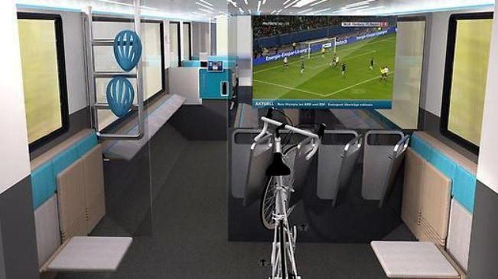 Foto: Desain Kereta Masa Depan Ada Gym & Tempat Main PS