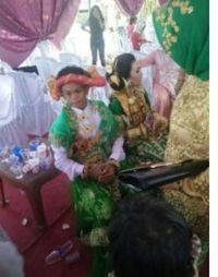 Heboh Foto ABG 16 Tahun Menikah di Sulbar