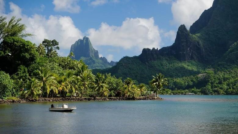 Foto: Pulau Moorea di Polinesia Prancis (Thinkstock)