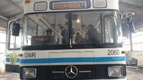 Begini Rekondisi Bus DAMRI Era Anak Zaman Old di Bandung
