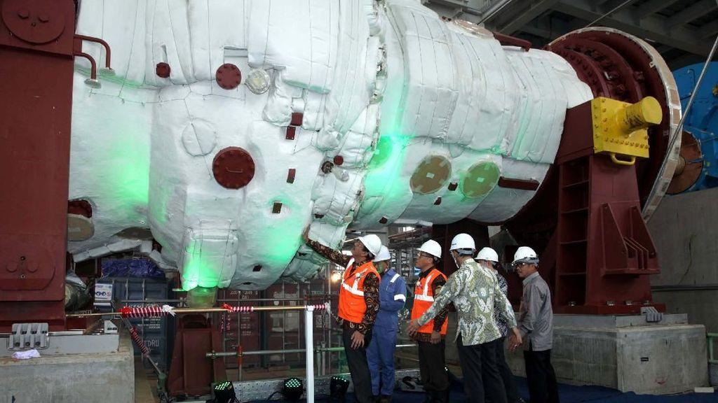 Gas Turbine PLTGU Jawa 2 Resmi Terpasang