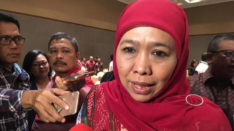 Sudah Surati dan Temui Khofifah - Jakarta Menteri Sosial Khofifah Indar Parawansa sudah menyurati Presiden Joko Widodo tentang niatannya melaju ke Pilgub Jawa Timur