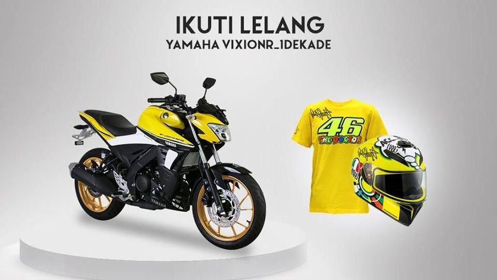 Rayakan 1 Dekade Vixion, Yamaha Lelang Vixion R Lewat Facebook