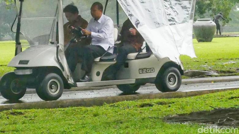 Airlangga dan DPD I Golkar - Bogor Sejumlah Ketua DPD I Golkar bertemu dengan Presiden Jokowi di Istana Menyusul kemudian Menperin Airlangga Hartarto yang