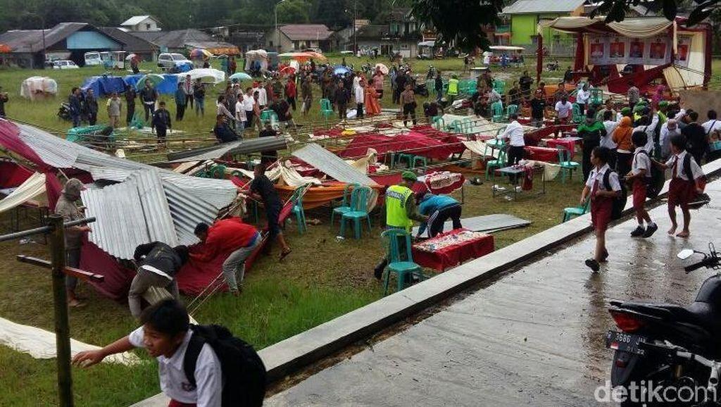 Angin Ribut Mengamuk 4 Desa di Banjarnegara, 1 Warga Tewas