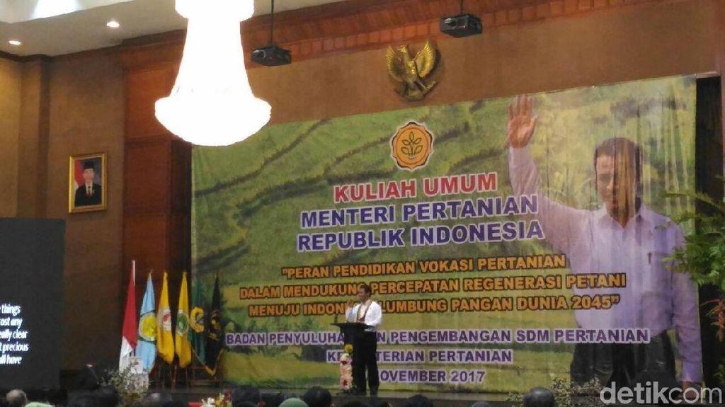 Di Depan Ratusan Mahasiswa, Mentan: RI Ekspor Beras ke Malaysia