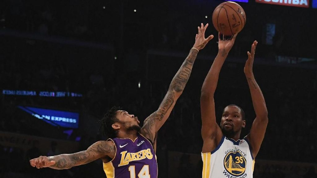Durant dan Curry Main Lagi, Warriors Kalahkan Lakers