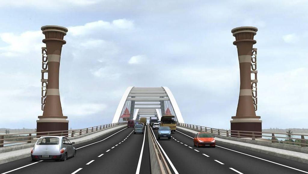 Foto: Megahnya Jembatan Kebanggaan Jokowi di Papua