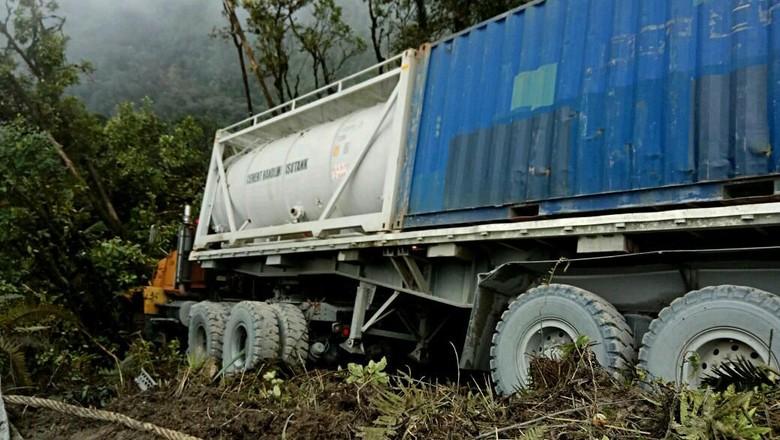 Ini Truk Freeport yang Ditembaki KKB di Timika