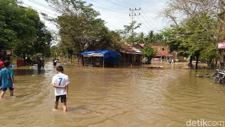 1 Rumah di Aceh Utara Hanyut Akibat Tanggul Sungai Samudera Jebol