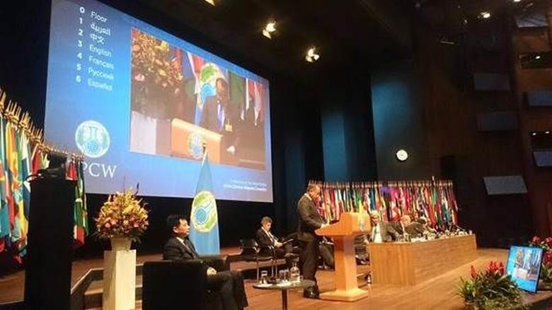 Indonesia Masuk dalam Dewan Eksekutif - Jakarta Indonesia terpilih sebagai anggota Dewan Eksekutif organisasi pelarangan senjata kimia dan Ketua Komite Persiapan Review Conference Keputusan