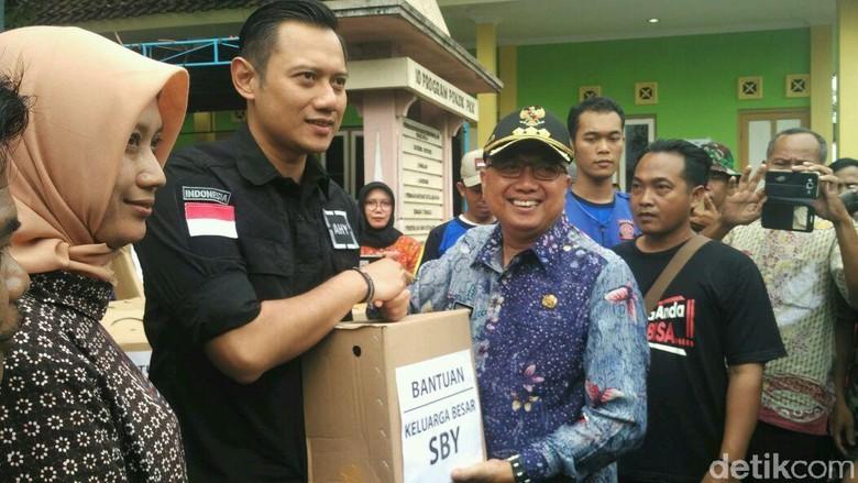 Serahkan Bantuan ke Korban Banjir di Bantul, AHY: Murni Kemanusiaan