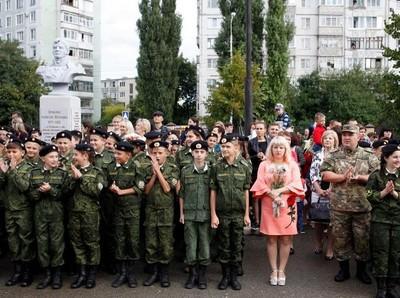 Foto: Camp Pelatihan Militer untuk Remaja Rusia