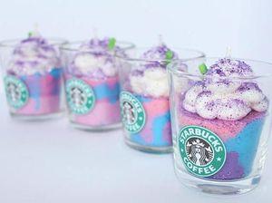 Gemas! Warna-warni Pastel Unicorn Frappuccino Kini Hadir dalam Bentuk Lilin