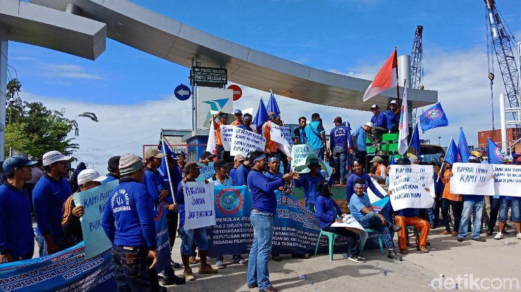 Buruh Pelabuhan di Ambon dan Tarakan Demo, Ini Tuntutannya