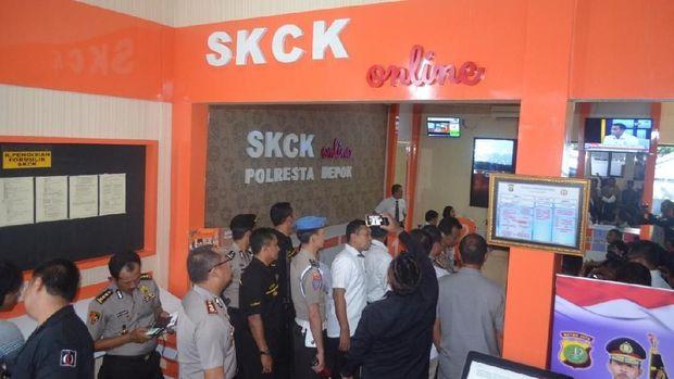 Peluncuran SKCK online di Polresta Depok