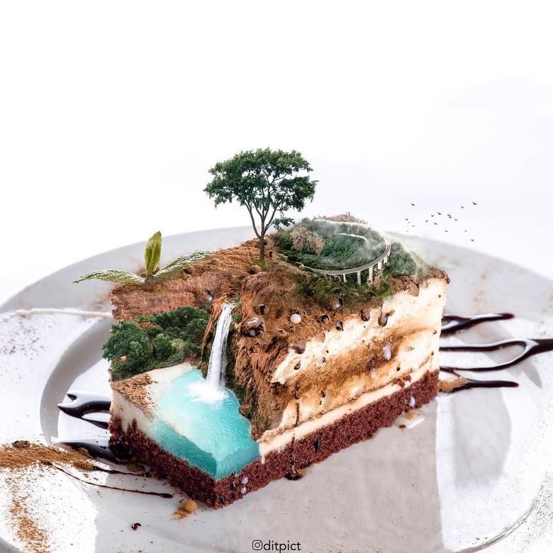 Dari Ubah Bentuk Hewan, Retoucher Aditya Aryanto Kini Merambah Kue