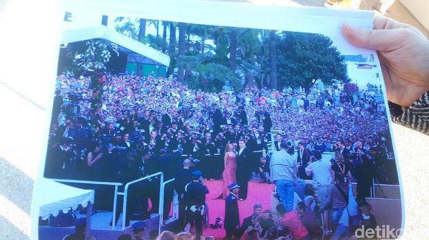 Suasana saat Arnold Schwarzenegger datang di red carpet (Afif Farhan/detikTravel)