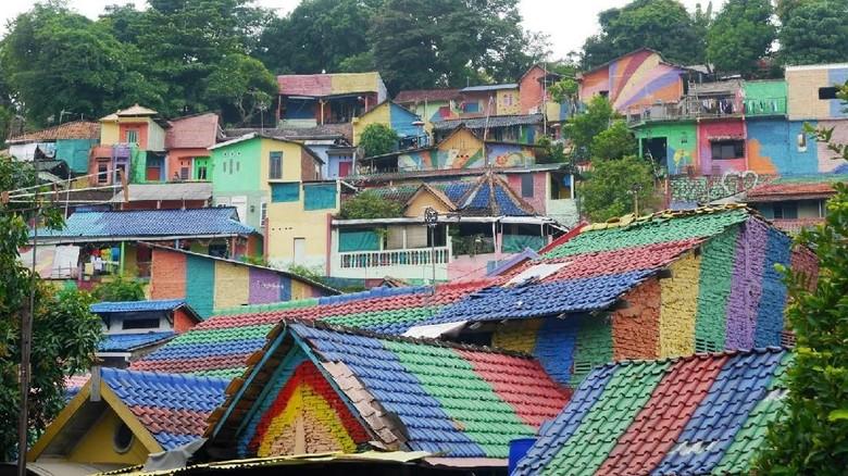 Foto: Kampung Pelangi di Semarang (Kurnia/detikTravel)