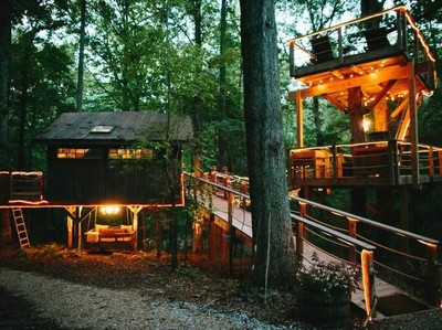 Sweet! Rumah Pohon Romantis dengan Gaya Mewah di Amerika